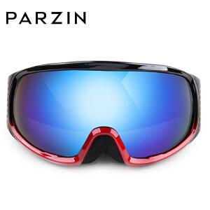 PARZIN帕森滑雪镜 双层防雾球面男女偏光可卡近视眼镜 滑雪护目镜
