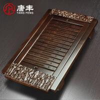 唐丰茶盘家用简约嵌入式储水托盘实木长方形茶台大容量茶海排水