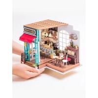 艺术屋拼装模型DIY小屋小房子礼物咖啡屋
