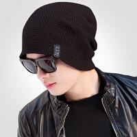 帽子男士冬季潮毛线帽加厚针织帽保暖加厚套头帽护耳百搭包头棉帽
