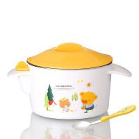 保温碗宝宝注水儿童吃饭碗不锈钢小孩餐具防摔婴儿辅食碗筷勺套装yw wk-168