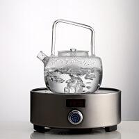 乌石茶盘套装 电磁炉家用嵌入式电茶炉 全自动泡茶烧水壶一体简约