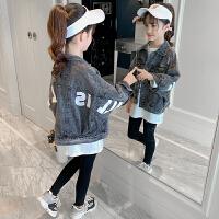 女孩时髦长袖中大童外套2019秋装新款韩版女童时尚洋气夹克