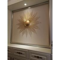 欧式铁艺家居壁饰墙上装饰品太阳花挂饰创意电视背景餐厅沙发装饰