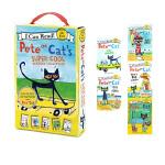 英文原版 My First I Can Read Pete the Cat 皮特猫分级读物 5册盒装 汪培�E书单