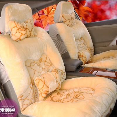 新款高档毛汽车座垫 冬季坐垫  通用汽车坐垫 冬季毛绒汽车坐垫套 高档车座垫套