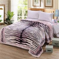 毛毯被子加厚冬季珊瑚绒双层盖毯结婚庆大红单双人毛毯床单定制