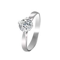 梦克拉 PT950铂金戒指钻石戒指月光 50分结婚戒指钻戒 GIA证书