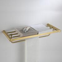 金色卫浴304浴室毛巾浴巾架化妆架抽纸盒卫生间置物架壁挂件套装
