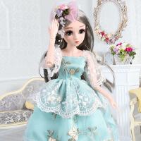 芭比娃娃 新年礼物 正品 乐馨儿芭比娃娃超大号单个 女孩公主bjd仿真26关节45厘米洋娃娃 小琪公主
