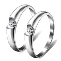 梦克拉 铂金钻石戒指情侣对戒钻戒 钻石对戒情侣款结婚对戒铂金对戒 求婚结婚钻戒