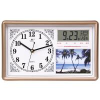 相框座钟表挂钟客厅时钟挂表石英钟简约创意时尚个性家用方形日历