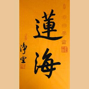 佛学大师 净空法师(莲海)ZH587附收藏证书