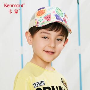 卡蒙6-9岁儿童鸭舌帽男宝棒球帽透气网布宝宝太阳帽男孩户外帽子4684
