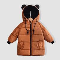 宝宝衣服新款儿童棉衣中长款男女童2018新款冬装外套棉袄