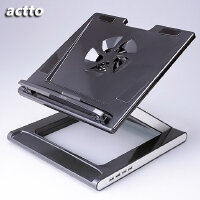actto韩国安尚NBS-07H/NBS-07WH笔记本散热支架(带4口USB扩展口),笔记本散热底座,角度高度可调整