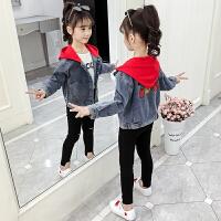 儿童洋气时尚夹克上衣2019新款韩版女童中大童秋装牛仔外套