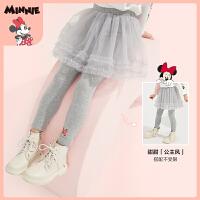 【春新品4折�A估�r:62元】迪士尼女童裙式打底�2021春�b新款�和������W�裙�卡通公主
