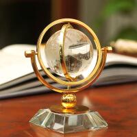 [新品上市]水晶球摆件地球仪家居摆设欧式办公桌书房美式酒柜装饰品书柜客厅 B款