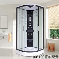 【品牌特惠】整体淋浴房隔断干湿分离浴室一体式家用洗澡间玻璃门弧扇形沐浴房