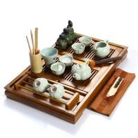 尚帝 柏木咖色杯架-汝窑紫砂茶具套装BH2014-055A