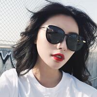 夏季偏光太阳镜女士圆脸墨镜黑色开车驾驶太阳眼镜潮