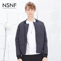 NSNF撞色下摆90%白鸭绒时尚短款羽绒服 2017秋冬新款