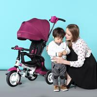 小虎子儿童三轮车折叠1-3-6岁宝宝三轮脚踏车 小孩手推车自行童车