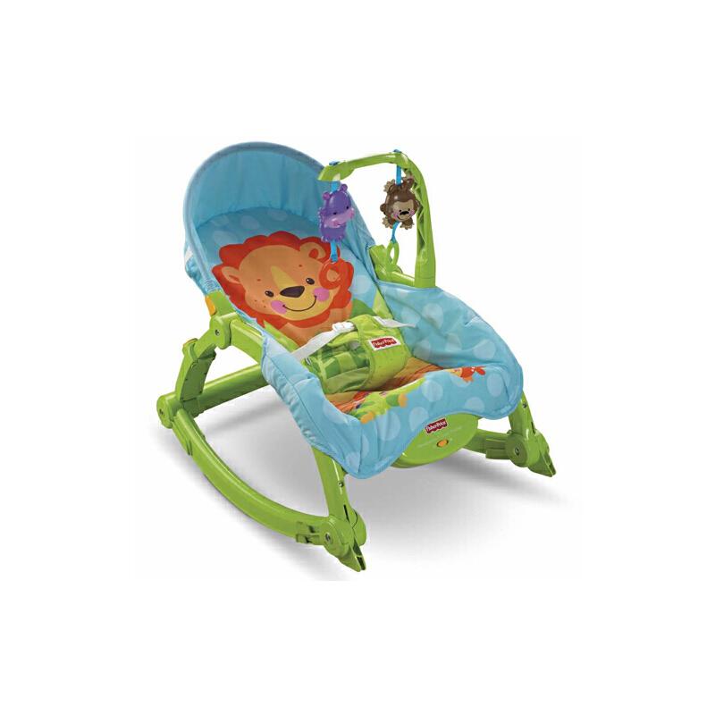 [当当自营]Fisher Price 费雪 可爱动物多功能轻便摇椅 W2811【当当自营】配有多种小玩具 刺激婴幼儿感官发展
