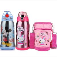 包邮 迪士尼 HELLO KITTY 儿童吸管保温水杯 600ML 防漏儿童水壶 配杯套 多色可选!