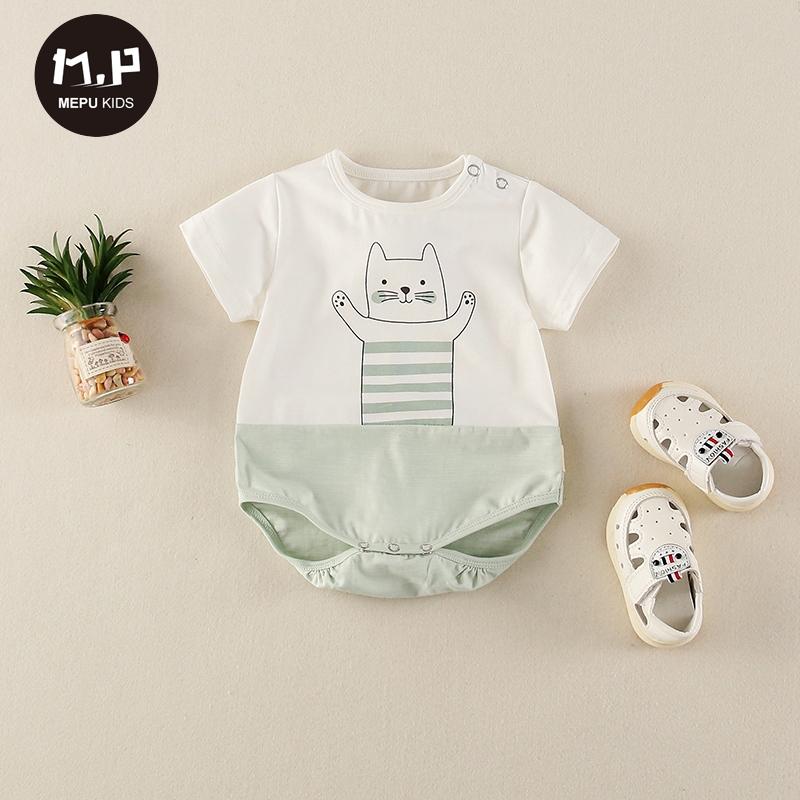 夏季薄款婴儿外出服0-12个月婴儿连体衣夏装男女宝宝包屁衣