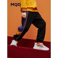 MQD男童运动裤加绒中大童2019冬季新款裤儿童针织裤