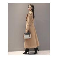 长款毛呢大衣女加厚长外套冬季新款韩版收腰显瘦过膝呢子大衣 X