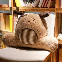 抱枕靠垫办公室汽车腰靠沙发靠枕床头孕妇护腰腰枕椅子大靠背床上 可拆洗(宽*高*厚 60*50*20厘米)+绒毯(