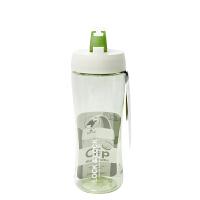 【任选2件5折,10.16日开抢】LOCK&LOCK乐扣 500ml绿色运动型塑料水杯 HLC801TG