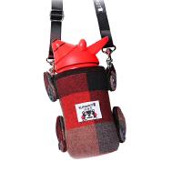 熊本士 260ML儿童吸管保温杯子 316不锈钢Little bear可爱保温水壶 配送杯套 红色