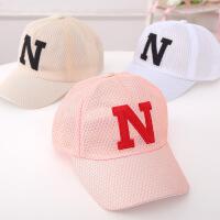 女童透气鸭舌帽男童眼棒球帽儿童帽子夏季薄款宝宝遮阳帽