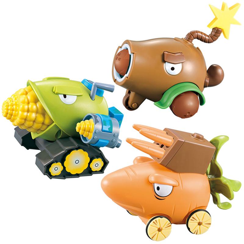 植物大战僵尸玩具疆尸玉米加农炮椰子加农炮胡萝卜战车男孩回力车