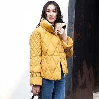 羽绒女2018冬装新款韩版学生保暖时尚小棉袄短款加厚棉衣外套