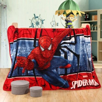 卡通珊瑚绒毯毛毯毛巾被床单法兰绒学生毯空调毯蜘蛛侠超人定制 2