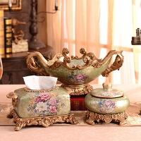 家居装饰品欧式客厅样板间树脂结婚礼物创意茶几摆件套装*闺蜜