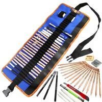 开学必备文具 马可素描工具十件套铅笔套装 素描铅笔+笔袋+橡皮+延长器+碳笔