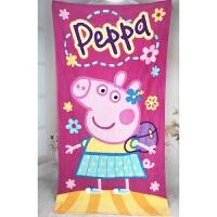 纯棉卡通浴巾小猪可爱情侣沙滩巾柔软吸水加大全棉儿童游泳巾 150x75cm