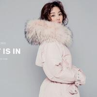 韩国羽绒服女中长款新款大毛领韩版修身加厚宽松大码斗篷型潮
