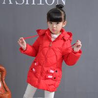 6女童羽绒棉衣外套冬装23儿童4女宝宝加厚中长款棉袄5岁童装7 红色兔子 110cm建议身高100cm左右