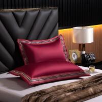 伊迪梦家纺 高档奢华高端高贵100支纯棉枕套单品单件高支高密全棉枕头套子标准单人枕芯套LK185