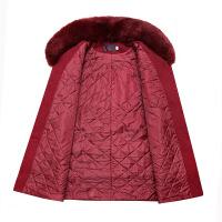 中老年女装秋冬装毛呢外套大毛领妈妈装大码加厚中年妇女呢子大衣