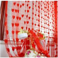 成品爱心线帘加密婚庆帘子3米韩式门帘挂帘装饰窗帘房间隔断帘