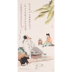 风流小童《茶道》花鸟 大尺幅 国画 精品 装饰 送人字画的佳品