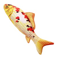 可爱仿真锦鲤鱼抱枕 毛绒玩具宠物鱼 猫狗玩具公仔靠垫抱枕可拆洗